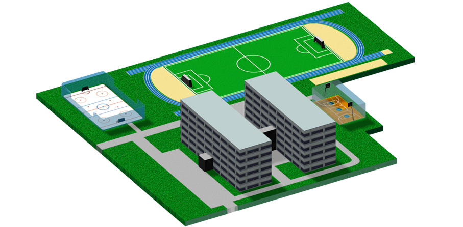 Межшкольные стадионы